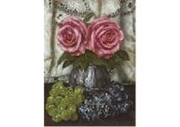 rose and fruits by masahiko yamanaka