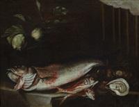 natura morta con pesci by felice boselli