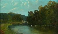 paisaje con estanque by robert weir allan