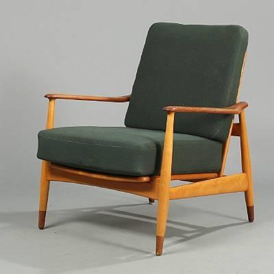 Adjustable Easy Chair (model Fd 161) By Arne Vodder