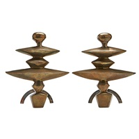 andirons from the nelson rockefeller collection (pair) by alberto giacometti