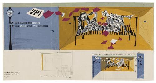 entwurfsskizze für den vpi messestand der buntpapierfabrik ag aschaffenburg by horst janssen
