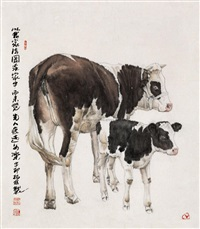 母与子 (cows) by zheng bolin