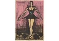 mme. mademoiselle from mon cirque (set of 3) by bernard buffet