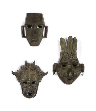 masks set of 6 by jim davidson