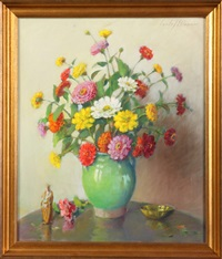 vase w/ flowers by carle john blenner