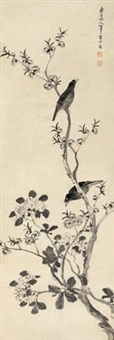 桃花集禽 by chen shuaizu