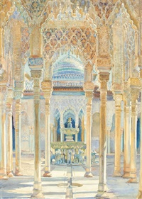 el patio de los leones (court of the lions) by george owen wynne apperley