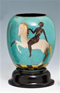 ikora-vase by wmf co. (württembergische metallwarenfabrik)
