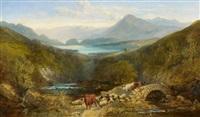 viehherde im schottischen hochland by joseph adam