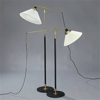 telescope lamps (model 349) (pair) by le klint and aage petersen