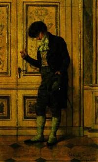gentleman in an interior by jenö (eugen) kemendy