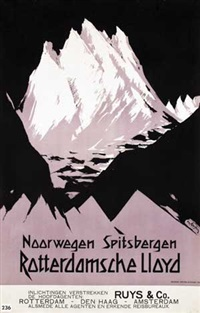 rotterdamsche lloyd noorwegen spitsbergen by fedor van kregten