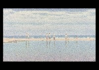 people at seaside by yoshihiko yamada