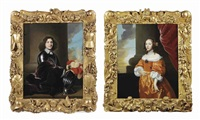 portrait of possibly the stadholder of friesland and groningen willem frederik van nasau dietz (+ portrait of possibly princess albertine agnes van oranje-nassau; 2 works) by isaac luttichuys
