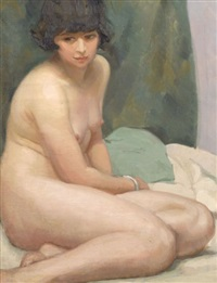 seated nude by margaret a. dobson