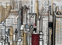 new york collage by juan alcalde