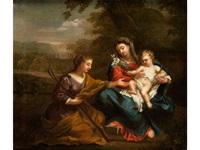 madonna mit kind und heiliger by filippo lauri
