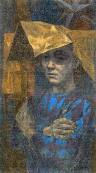 boy in paper hat by herbert laurence davidson