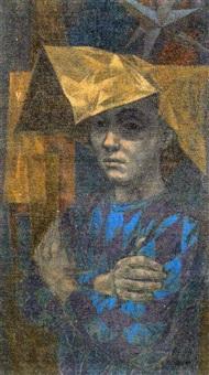 boy in paper hat by herbert laurence davidson