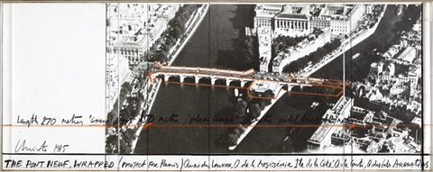 the pont neuf, wrapped (project for paris) (in 2 parts) by christo and jeanne-claude