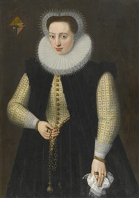 portrait of a young lady, aged twenty-four by frans pourbus the younger