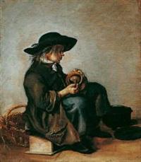 ein sitzender junger mann by moses ter borch