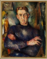 portrait of mr. lauritz hansen (+ view from the artist's atelier, magdalenenstraße, hamburg, verso) by gretchen wohlwill