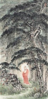 释迦出山图 (figure) by lin liangfeng