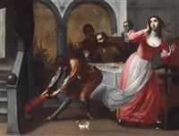 figuren in einem interieur by francesco (cecco bravo) montelatici