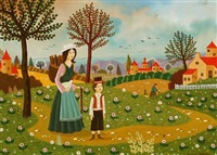 scène paysanne by alain thomas