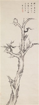 bird on a tree by zha shibiao