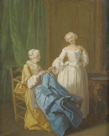 la robe bleue by etienne jeaurat