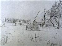 herbstlandschaft by mikhail markelovitch gurjavine