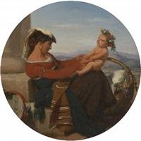 neapolitanerin mit ihrem kind by julius rast