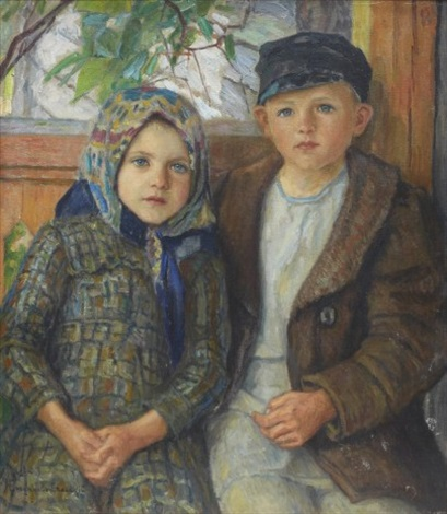 a boy and a girl by nikolai petrovich bogdanov belsky