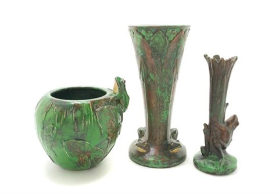 Coppertone Vases 3 Works By Weller Pottery On Artnet
