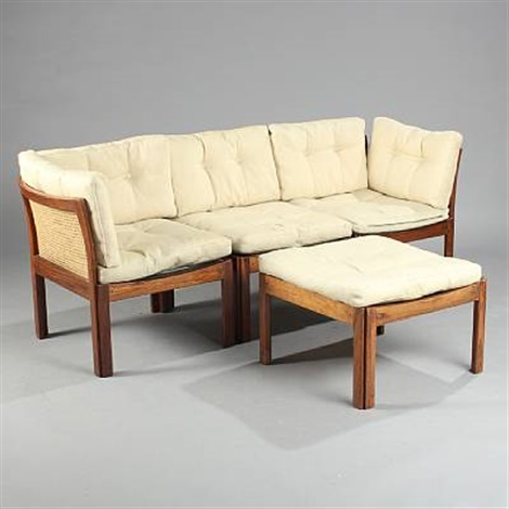Plexus Sofa In 3 Sections And Stool (set Of 4) By Illum Wikkelsø