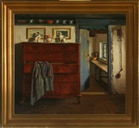interior with a chest of drawers by marinus nielsen