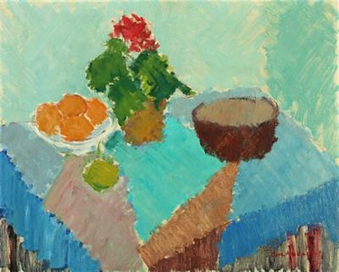 still life with flowers and oranges by carl andersen