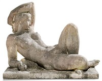 reclining young girl by gerhard henning