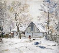 ländliches gehöft im winter by oldrich blazicek