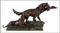paire de chiens de chasse avec proie by antonio amorgasti
