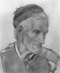 kopf eines alten bauern by friedrich geselschap