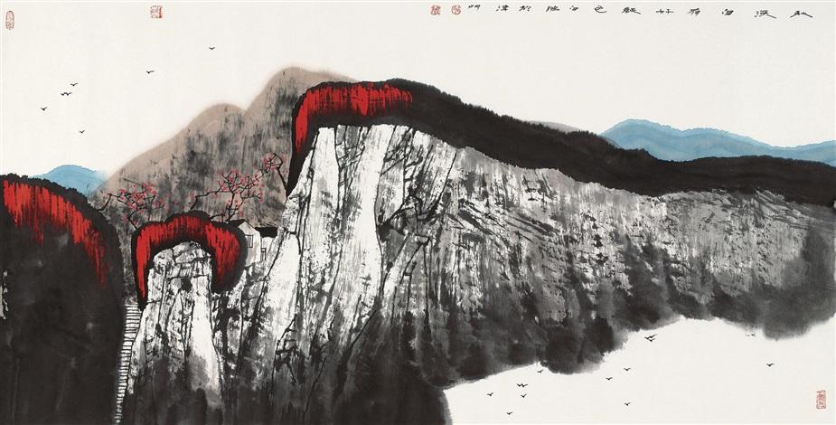 秋深自有好颜色 mountain by bai peng