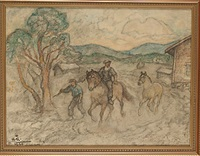 drängar med hästar by acke aslund