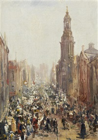 st. mary's gate market, manchester, saturday morning by william edward webb