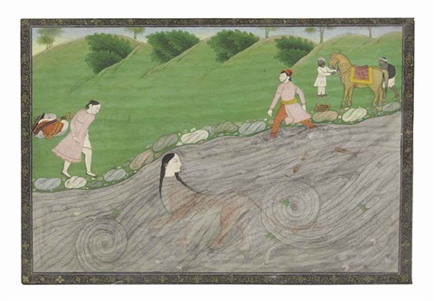 durga in the water by anonymous indian 18