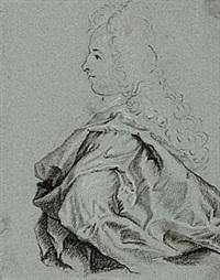 profilporträtt av man i allongeperuk by lucas van breda
