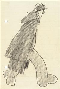 schreitender mann by lyonel feininger